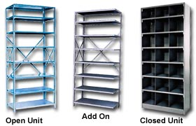 y different manufacturers of metal shelving across the US. Used metal  shelving and used metal shelving units are very popular because of the  reduced cost.