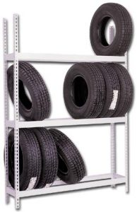 Used Tire Rack   Reorganizing a Warehouse